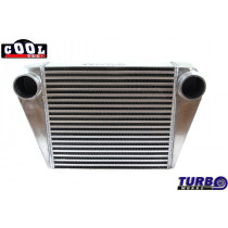 Intercooler TurboWorks 400x350x76 hátsó kivezetéssel
